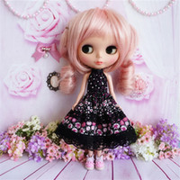 Wholesale Toys Doll Girl Sexy - Clothes for 1 6 blyth doll black strapless dress sexy JL077 Fits for pullip,BJD,jecci five,licca,azone