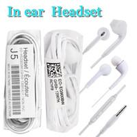 kopfhörer gebaut großhandel-Fabrikpreis J5 S6 in Ohr verdrahtete Kopfhörer 1.2m 3.5mm InEar-Kopfhörer mit Sprachsteuerung und build-in-Mikrofon für Samsung s8 s9 und Ohr-