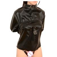 bdsm nutzte frauen großhandel-Sex Wear Leder Zwangsjacke BDSM Bondage Harness Gerade Jacke Sex Harness Körper Frauen Spielzeug Für Paare Clubwear Kostüm