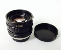 industrielle kamera freies verschiffen großhandel-25mm 3-Megapixel-Industrieüberwachungskamera-Objektive freies Verschiffen durch DHL-HK express
