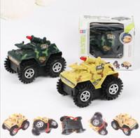ingrosso deposito di compleanno-Giocattolo elettrico a quattro ruote motrici Tank Car Camouflage Tanks System Giocattoli per bambini come grandi regali di compleanno Tumbling Stunt Car Model Car KKA5842