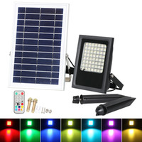 panel reflector al por mayor-Focos reflectores solares de 7 colores Powered Garden LED RGB LED Luz de seguridad Panel de iluminación para exteriores impermeable para exteriores