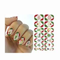 нести ногти оптовых-Christmas New Year 3D Santas Snowflake Snowman Bear Mixed Designs DIY Sticker Water Transfer Nail Art Stickers Nails Decals S6