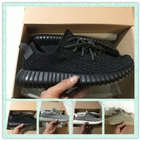 Wholesale Cheap Brown Oxfords - 2018 Cheap 350 Boost Oxford Tan Men Running Shoes Kanye West 350 Boost Pirate Black Moonrock Women Turtle Dove Grey Trainers Sneakers