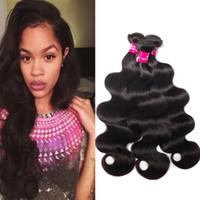 mongolian saç gövdesi toptan satış-8A Vizon Brezilya Vücut Dalga Düz Gevşek Dalga Derin Dalga Sapıkça Kıvırcık 100% Işlenmemiş Brezilyalı Perulu Malezya Moğol Bakire Saç