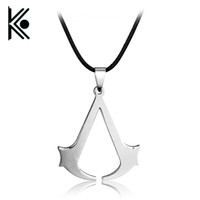 Wholesale assassins creed jewelry for sale - Group buy HOT Sale Cospaly Jewelry Assassins Creed Necklace Alloy Pendant Necklage Silver Plated For Men Gifts
