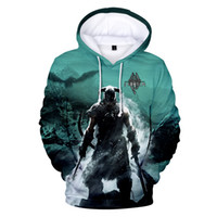 Discount game hoodies - 2018 New 3D The Elder Scrolls V SKYRIM Men's Pullover Hoodies Women Men Hot Game Couple's Harajuku Hip Hop Fans Cool Sweatshirt