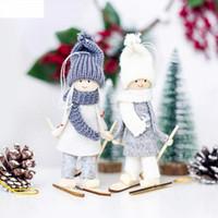 menina pingente de madeira venda por atacado-Bonito Menina Anjo Boneca De Madeira Pingente de Árvore De Natal Decoração de Casa Decorações Da Árvore de Natal Crianças Presentes Ornamentos