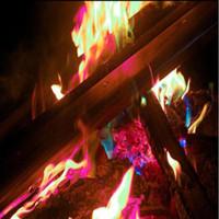 flammende spielzeug großhandel-15g Neuheit Magic Fire Mystical Fire Zaubertricks Bunte Flammen Pulver Bonfire Sachets Magier Pyrotechnik Classic Toys