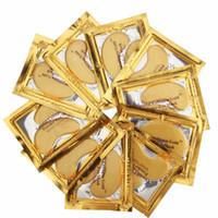 pack de collagène achat en gros de-Masque pour les yeux au cristal collagène doré Hotsale Patchs pour les yeux 100pcs = 50 pack Fine Lines Soins du visage Soins de la peau