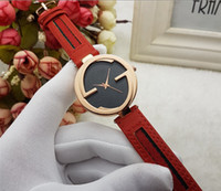 Wholesale delicate watches - Newest Style Brand Fashion Classic Hot Diamonds Dial Couple Lovers Quartz Wristwatch Delicate Luxury Steel Leather Women Watch Women Watch