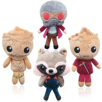 Wholesale galaxies video - 2018 Guardians of the Galaxy Plush Dolls Guardians of the Galaxy Plush Toys Stuffed Kids Toys Christmas Gift for Kids OTH179