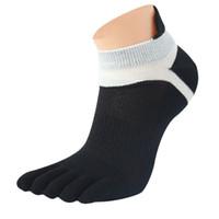 nuevos diseños de algodón primaveral. al por mayor-Nuevo diseño de los hombres de malla Meias cinco dedos dedo del pie calcetines de algodón poliéster primavera calcetines divertidos Calcetines Hombre tamaño libre al por mayor