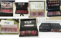 Wholesale Gloss Pink - Kylie Jenner lipgloss 12 colors Liquid Matte 12pcs lipstick Fall CollectionTake Me On Vacation birthday pink black box lip gloss