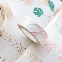 Wholesale washi tape for sale - Group buy Pink Washi Tape Gold Foil Masking Tape Scrapbooking Adhesive Decoration Paper