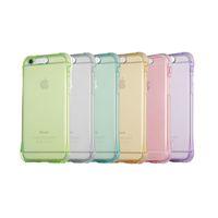 ingrosso luce di mela apple-Custodia Cover posteriore morbida antiurto per Iphone X 7 Plus 6S Cornice TPU Cornice flash LED per chiamata in arrivo