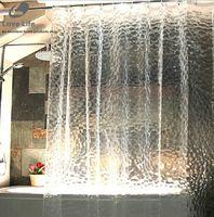 pvc würfel großhandel-New Design New-Duschvorhang wasserdichtes transparentes Wasser Cube PEVA Dusche Badvorhang dick Bad Duschvorhang cortina ducha