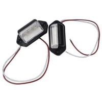 luzes traseiras conduzidas para carros venda por atacado-Traseira Da Lâmpada Da Cauda Lâmpada Da Placa de Licença Número de Placa de Luz LED Fonte de Luz 12 V 1 Par Carro-styling Para Caminhão Auto Caminhão Reboque 3LEDs