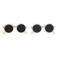 pin brillen großhandel-Metall Brille Brosche Simulation Emaille Brille Pin Coat Shirt Tasche Pins Cartoon Brillen Revers Pin Badge Button Broschen