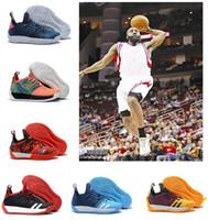 sapatilhas das novas chegadas venda por atacado-Chegada NOVA moda designer de luxo sapatos James Harden Vol.2 Mens MVP Tênis de Treinamento dos homens Sapatas Dos Esportes Tamanho 40-46