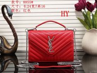 Wholesale ribbon embroidery decoration - 2018 Hot Brand New High Quality Chain shoulder fashion bags Casual fashion handbag fringed decoration single shoulder chain bag 002