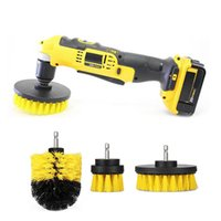 Wholesale kit for bathroom - 3pcs set Power Scrubber Brush Set for Bathroom | Drill Scrubber Brush for Cleaning Cordless Drill Attachment Kit Power Scrub Brush