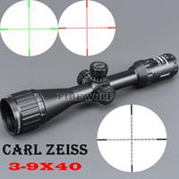 faire un fusil achat en gros de-Carl Zeiss Fabriqué en Chine 3-9x40 Blanc Lettres Rifle Scope pour la chasse 25.4mm Livraison gratuite