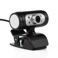 definición de la computadora usb al por mayor-Cámara de cámaras web de alta definición 1280 * 720 720p Pixel 4 LED HD Webcams con luces de noche para computadora de alta calidad