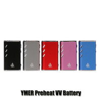 Wholesale battery vv vw mod for sale - 100 Original LVSmoke YMER Box Mod mAh VW W Preheat VV Variable Voltage Battery For Thick Oil Cartridge Authentic