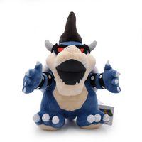 детские игрушки для мальчиков оптовых-Хорошее качество Super Mario плюшевые игрушки 28 см / 11 дюймов синий Bowser Koopa плюшевые игрушки куклы мягкие чучела EMS доставка C5038