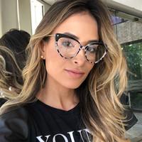 armações de óculos femininos venda por atacado-ROYAL gato da menina dos olhos óculos moldura Mulheres 2018 Marca Designer Optical Óculos Femininas alta qualidade Metal Frame OS039