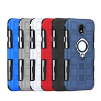 Wholesale iphone holder belt clip - Hybrid 2 in 1 Shockproof Armor Case with Ring Holder Kickstand Belt Clip for iPhone X 6 7 8 Samsung Galaxy S8 s9 Plus Car magnetic