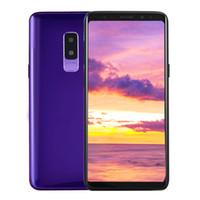Wholesale qwerty phones pink - Fingerprint Goophone 9 plus MTK6580 quad core 1GRAM 8G ROM Full Screen 6.2inch Cellphone Show 4G LTE android7.0 Unlocked Phone