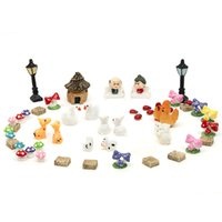 Wholesale crafts dollhouse for sale - Group buy Pastoral Diy Micro Landscapes Dollhouse Bonsai Figurine Miniature Decoration Ornament For Potted Plant Craft Home Garden Home Decor