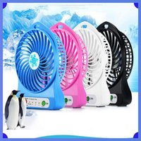 Wholesale cooling desk for laptop online - 100 Tested Rechargeable LED Light Fan Air Cooler Mini Desk USB Battery Rechargeable Fan With Retail Package for PC Laptop hot sale