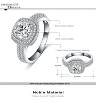diamond gypsy ring Canada - 2018 New Wedding Rings for Women Engagement Ring Real 925 Sterling Silver Jewelry 1 Ct 6mm Cubic Zircon CZ Ring Simulated Diamond Ring
