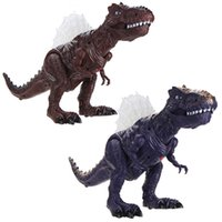 ingrosso i bambini giocano il movimento-Walking Action Dinosaur Kids Movement Toy Figure With Lights Sounds Lay Eggs for Kids Bambini Giocattoli interattivi Regalo
