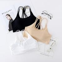Wholesale Girl Wear Bra - 2018 Summer style Sports bra seamless vest style girl underwear Nylon cloth without rims wear comfortable bra