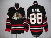 ingrosso porcellana autentica pullover hockey-2015 Chicago Blackhawk maglie Kane Cheap Patrick Kane Jersey maglie da hockey maschile Autentica Chicago Blackhawks cucita Jersey Cina