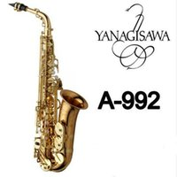 Wholesale Tuning Plate - New Brand Gold Plated YANAGISAWA A-992 WO20 Alto Saxophone Professional Musical Instruments Sax With Mouthpiece, Case, Accessories