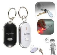 llavero buscador de sonido al por mayor-Anti Lost LED Key Finder Locator 4 colores Voice Sound Whistle Control Locator Llavero Control Torch 1000Pcs