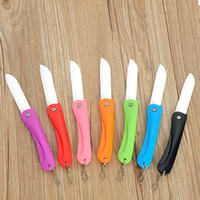 Wholesale gift ceramic knife for sale - Group buy Hot sale High quality foldable Ceramic Knife portable household Kitchen Fruit Vegetable Knives colourful gift knife T3I0045