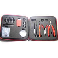 kit de herramientas reconstruidas vape al por mayor-Kit de herramientas de alta calidad Coil Master V2 bolsa todo en uno Herramienta de bricolaje Vape dispositivo reconstruir RDA RDTA RTA Tanque con algodón orgánico japonés