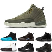 Wholesale tables games - 12 CP3 OVO Wool Gym Red Dark Grey Blue Suede Flu Game The Master CNY Taxi PS Gamma Bule French Blue Men S Taxi Basketball Shoes Sneakers
