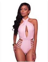 seksi pin up toptan satış-Yüksek Bel Seksi bandaj bikini bikini Mayo Artı Boyutu Mayo Kadınlar Vintage Pin Up Bikini Set Moda Çiçek Retro Mayo
