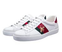 erkekler için yürüme ayakkabıları toptan satış-Lüks Yılan Tasarımcı Erkek Kadın Sneaker Rahat Ayakkabılar Düşük Üst Deri Sneakers Ace Arı Stripes Ayakkabı Yürüyüş Spor Eğitmenler Drop Shipping