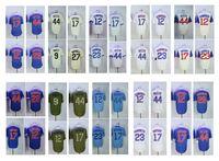 Wholesale Kris Bryant - 2017 Men Jersey 17 Kris Bryant 44 Anthony Rizzo 9 Javier Baez 12 Kyle Schwarber 23 Ryne Sandberg Baseball jerseys