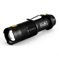 uv lila taschenlampe großhandel-UltraFire 365NM UV Taschenlampe Lila Wasserdicht Teleskop Fokussierung Taschenlampe Taschenlampe Fokus Einstellbare Mini Taschenlampe Lampe Freies Verschiffen