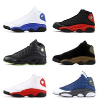 Wholesale Play Day - 13s Classic 13 olive basketball shoes DMP Black cat play HOF grey toe he got game Sports Shoes men women