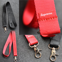 Wholesale good phone holders for sale – best Fashion CellPhone Lanyards Strap Clothing brand Keychain Phone Keys MP3 Camera IDs Badge Holder Detachable Buckle Good Gift High QualitySupr